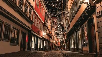 Street Night Illumination 4k Lane Lighting Weihnachten