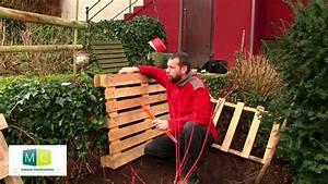 Composteur Pas Cher : composteur en palette faire son compost pallets composter make your own compost video youtube ~ Preciouscoupons.com Idées de Décoration