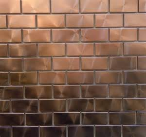 copper tiles for kitchen backsplash modern twist with 1 quot x 2 quot copper tiles can you say bar backsplash brickwork patterns