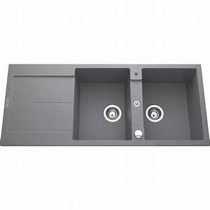 evier gres gris vier rsine with evier gres gris perfect With salle de bain design avec evier granit gris 2 bacs
