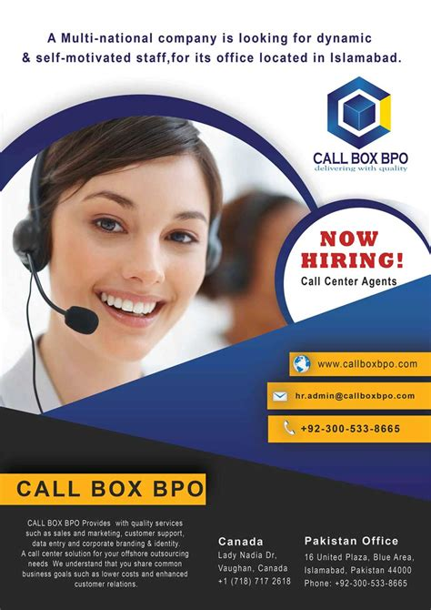 call center islamabad hiring csr call box bpo