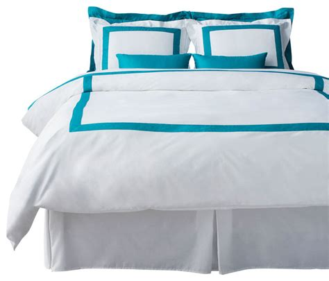 Turquoise And White Duvet Cover by Lacozi Turquoise White Duvet Cover Set Modern Bedding