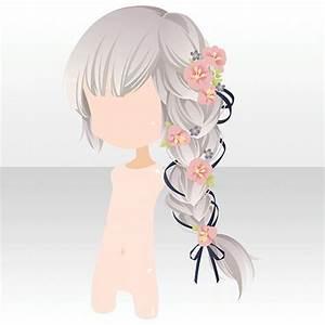 Anime hair braid with flowers | Anime hair, Anime and Flowers