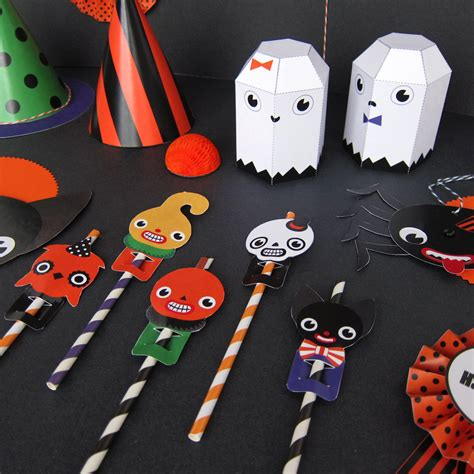 halloween party favor toys printable paper craft