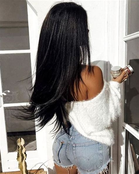 Inky Black Hair by 2019 Coolest Hair Color Trends Ecemella
