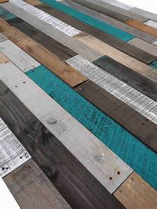 Pallet, Wood, Wall, -, Turquoise, Rustic, Blend, -, 10sqft, Of, 1x4, Boards