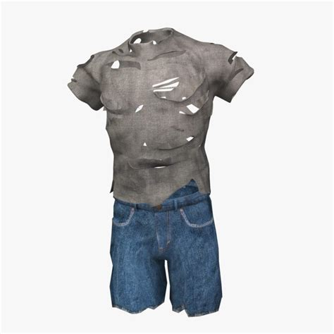 Torn T Shirt Template by Ripped Shirt Shorts 3d Max