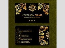 Elegence vintage business card templates Free vector in