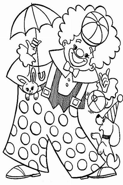 Clown Coloring Pages Circus Carnival Colouring Animal