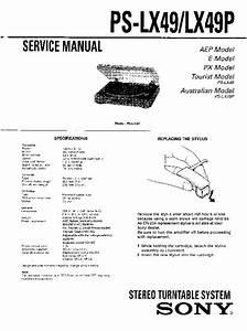 Sony Ps-lx49p Service Manual
