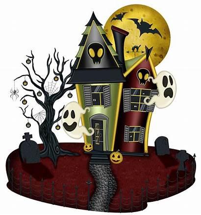 Haunted Halloween Clipart Transparent Casa Frame Clip