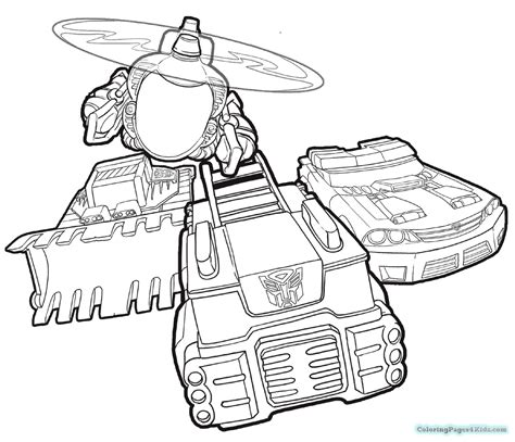 rescue bots bumblebee coloring pages chase coloring