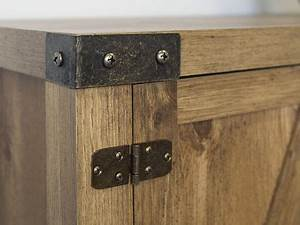 barnwood 52quot barn door buffet table console tv stand With 52 inch barn door