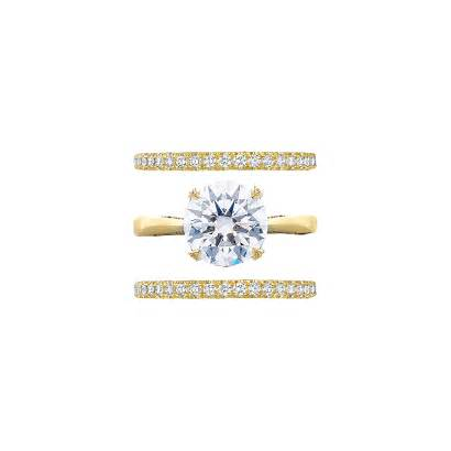 Ring Engagement Band Rings Gold Tacori Bands