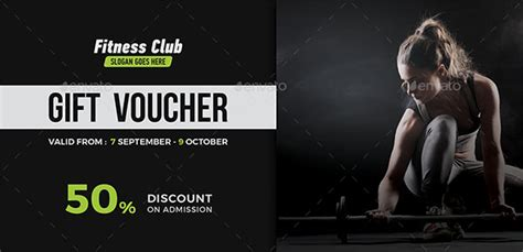 gym gift voucher templates  photoshop vector