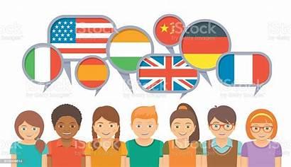 Communication Languages Different International Vector Language Countries