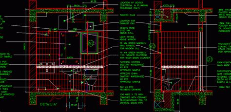 bathroom detail  bedroom house dwg plan  autocad