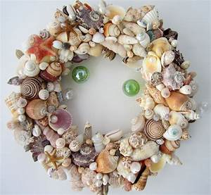 Beach decor seashell wreath nautical decor shell wreath for Seashell decor