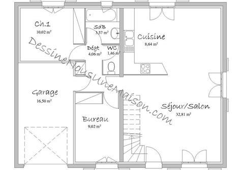 plan maison rdc 3 chambres plan maison 70m2 3 chambres