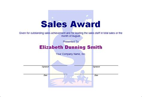 printable award certificate templates sampleprintablecom