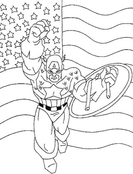 captain america avengers coloring pages for kids