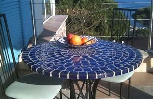 Table De Jardin Mosaique : table mosa que table fer forg votre table mosa que ronde ou rectangulaire en c ramique ~ Teatrodelosmanantiales.com Idées de Décoration