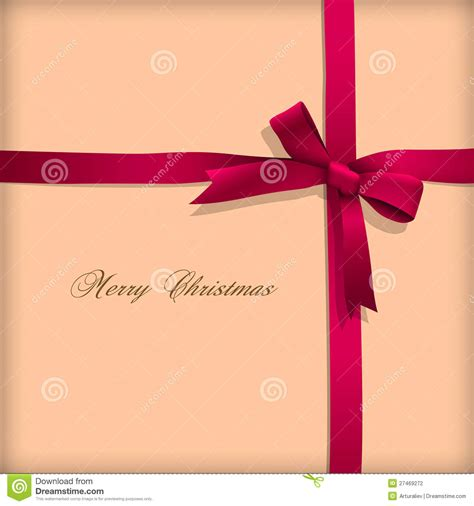 greeting card  pink bow stock photography image