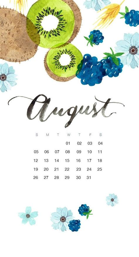 august  iphone calendar wallpapers duvar kagitlari