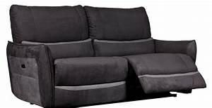 canape de relaxation 3 places electrique microfibre gris With nettoyage tapis avec canape relax electrique microfibre