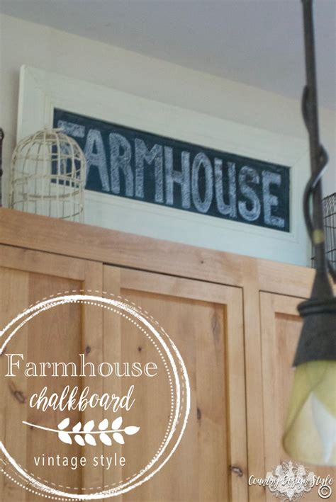 country chalkboard for kitchen farmhouse chalkboard sign country design style 5942