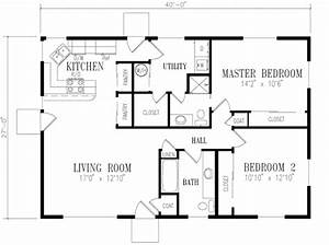 Ranch Style House Plan 2 Beds 200 Baths 1080 SqFt Plan