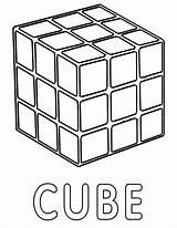 Cube Template sketch template