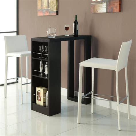 You can have a wonderful time with your friends at a leisure weekend. Bar Units and Bar Tables Small Bar Table with Storage Shelves by Coaster - Coaster Dealer ...