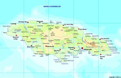 map  jamaica jamaica maps mapsofnet