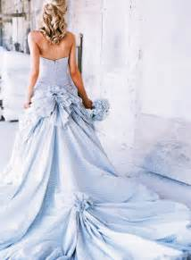 pale blue wedding dress meaning of the colored wedding dresses weddingelation