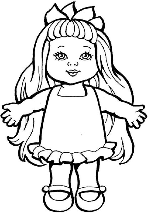 smiling doll toys coloring pages  place  color