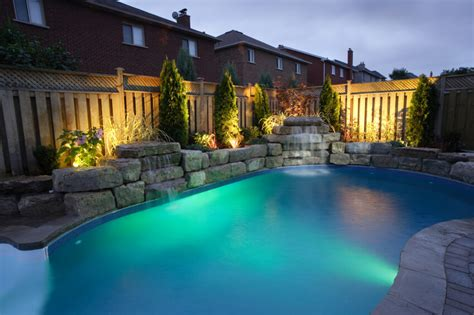 outdoor lighting around pool 50 upscale backyard outdoor in ground swimming pools