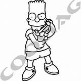 Bart Simpson Slingshot Stickers Decals Decal Sticker sketch template