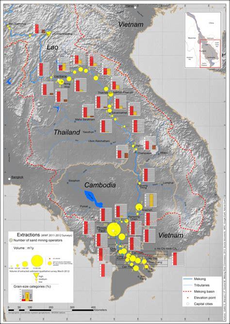 geography  sand  gravel mining    mekong river