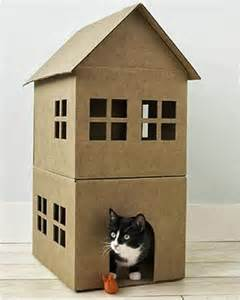 cardboard house for cats 7 diy creative and useful cardboard projects