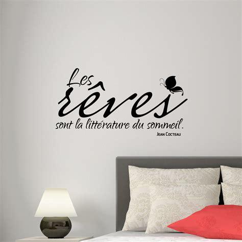 stickers citations chambre sticker citation les rêves sont la littérature jean
