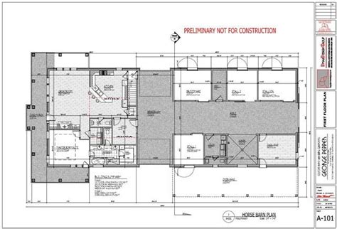 Horse Barn W/ Living Space Plans Expandable To Unlimited