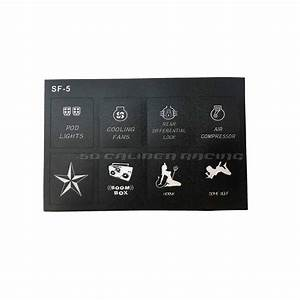 6 Way 12v Switch Touch Panel Switch Custom Design Sexy Button Labels