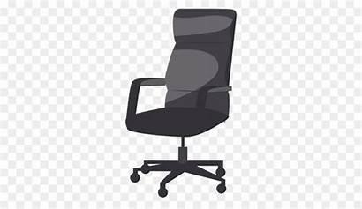 Chair Office Clipart Desk Cartoon Clip Furniture