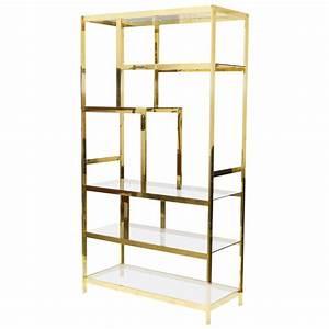 Midcentury Brass Etagere Display Shelf Unit At 1stdibs