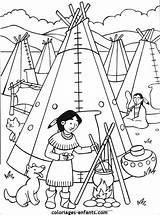 Coloriages Coloriage Indiens Indien Coloring Imprimer Cowboy Dessin Ausmalbilder Colorier Kleurplaten Indian Enfants Indianen Native Enfant Indianer Tekening Petit Indians sketch template