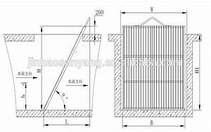 Bs Mechanical Manual Bar Screen For Waste Water Treatment