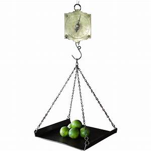 Hanging Country Store Spring Balance Scale With Weighing