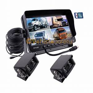 9 U0026quot  Monitor With Dvr 2x Rear View Backup Reverse Camera