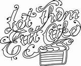 Cake Eat Coloring Embroidery Let Them Urbanthreads Designs sketch template